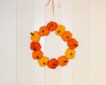 DIY Fabric Pumpkin Wreath