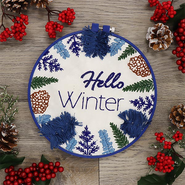 Holiday Embroidery - Hello Winter