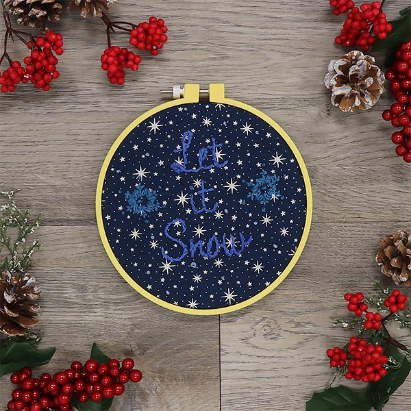 Holiday Embroidery - Let it Snow