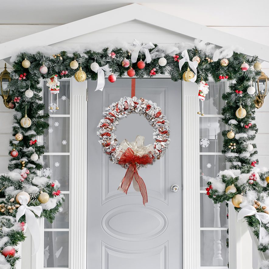 Christmas Wreath with Snow Days Collection